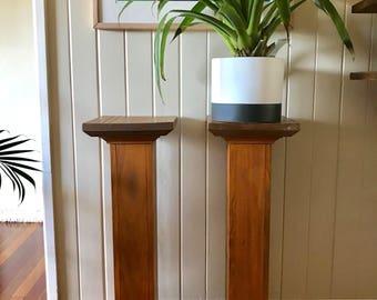 Vintage Solid Timber Plant Stands