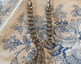 Vintage diamante necklace