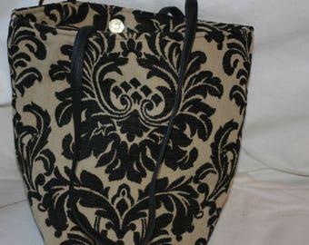 Handbag, tapestry bag, black handbag