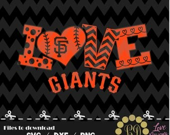 San Francisco Giants svg,png,dxf,cricut,silhouette,jersey,shirt,proud,birthday,invitation,sports,cut,girl,love,softball,2018 new,decal,bear