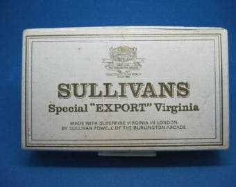 Sullivans Special Export Virginia 25 box(empty)