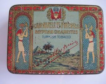 Caravellis Freres Royal Egyptian Cigarette Tin (25/empty) c.1930