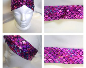 Pink Mermaid Scale Headband