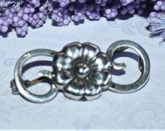 Lovely European Silver Antique Brooch