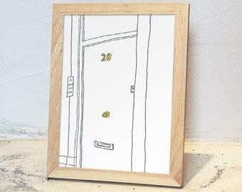 8x10 Ash Wooden Framed Art Print / Travel Moment Series