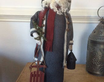 Vintage style Folk Art Santa
