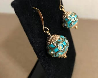 Jesse James beads french hook earrings
