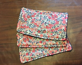 Set of 3 wipes cleansing washable fleece Liberty
