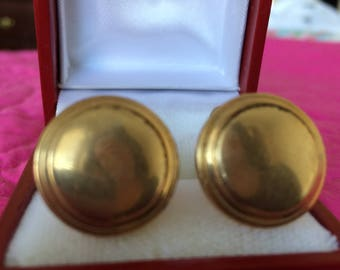 Vintage beautiful gold plate cuff links