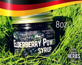 Elderberry Power Syrup (8oz) - Prepared with German Elderberries (limited time only)