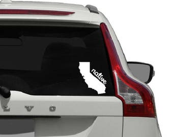 California Car Decal / California Car Decal Sticker / California Decal Sticker / California Native Car Decal / California Native Car Sticker