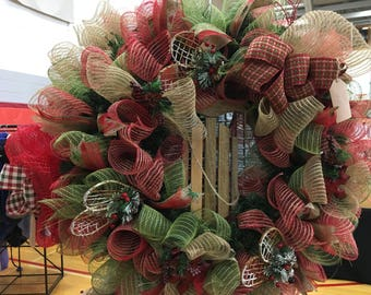 Winter Sled Wreath