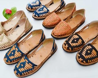 Handwoven Leather Huaraches Sandal Flats