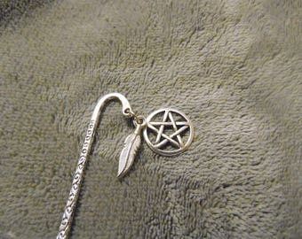 Pentacle & Feather Bookmark