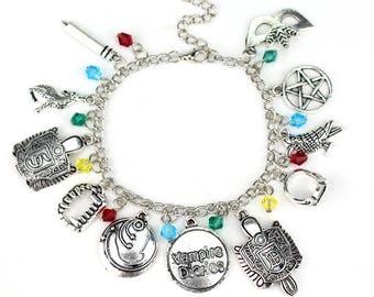 The Vampire Diaries Charm Bracelet/Epic Fandoms Jewelry