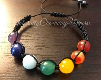 Chakra Macrame Bracelet