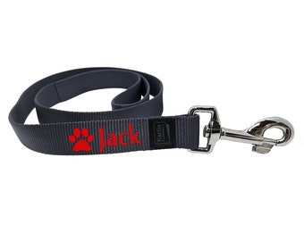 Navy Blue personalized dog leash