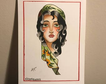Traditional Girl Painting
