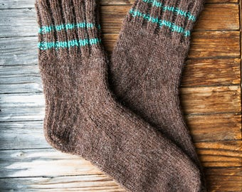 Hand knit wool socks! 100% natural. Made in North Europe. High quality product. Made with love.