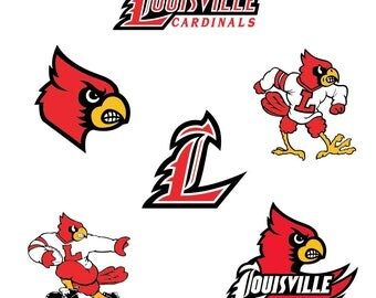 Louisville Cardinals SVG,png,eps,dxf, Logo, Layered ,Vector ,Cut File, Silhouette ,Cameo, Cricut ,Design Template, Stencil, Vinyl Decal