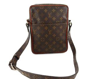 Vintage Louis Vuitton Monogram Canvas Leather Petit Marceau Crossbody Bag