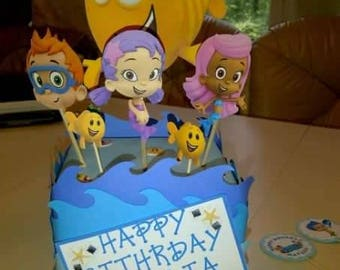 Bubble guppies center piece