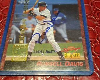 Rookie card #1 1994 russell davis  signed/combined shipping