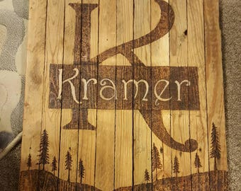 Personalized made to order sign
