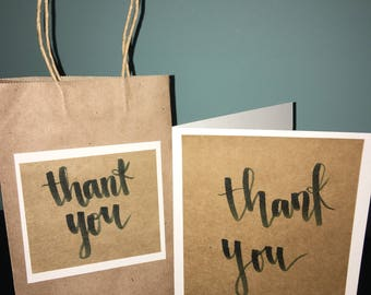 Thank cards and gift bag set