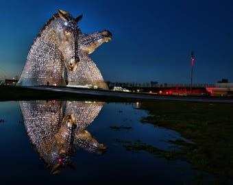 Kelpies Reflected