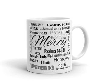 Mercy Mug with Scriptures relating Mercy