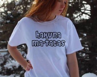 Hakuna Ma-Tatas, Hakuna Matata, Boob Shirt, Boob Tee, Funny Boob Shirt, Boobs Shirt, Tata's Shirt, Tata's Tee, Tata's T-Shirt, Gift for her