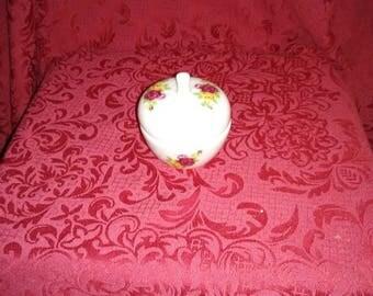 Vintage rose trinket dish.