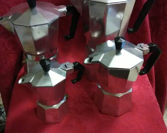 Vintage set of 4 Expresso coffee makers
