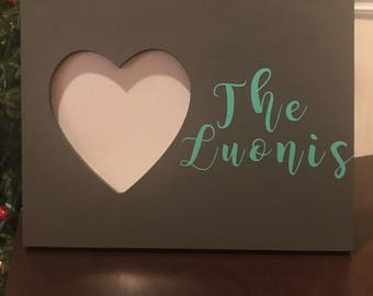 Personalized Heart Picture Frame