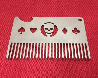 beard comb/metal beard comb/best beard comb/steel beard comb/wallet beard comb/stainless steel beard comb/custom beard comb/beard combs