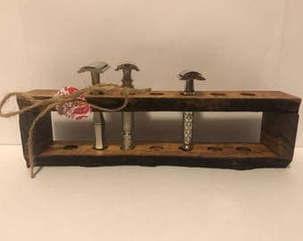 Walnut Safety Razor Stand #4