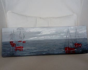 Boats (painting on wood)