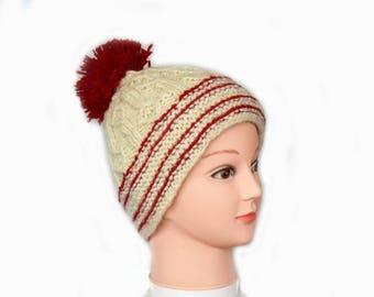 Woolen Hats with pom pom