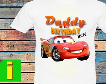 Daddy, Cars Iron On Transfer, Cars Birthday Shirt Iron On Transfer, Cars Birthday Party Shirt, Instant Download, Digital File Only