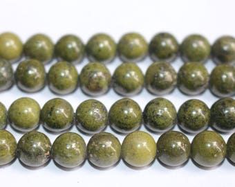 15 Inches Full strand,Natural Green Jasper round beads 6mm 8mm 10mm 12mm beads,loose beads,semi-precious stone