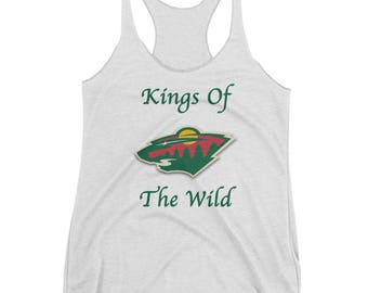 Minnesota Wild Hockey Kings Of The Wild Women's Racerback Tank