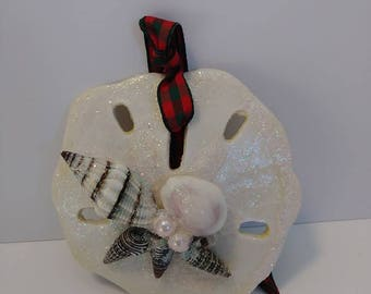 Mermaid Beach Christmas Sand Dollar Ornament