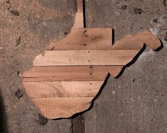 Wild and wonderful WV Wooden wall hanging(customizable)