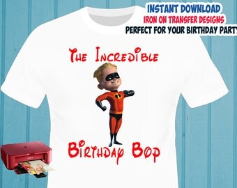 The Incredibles , BOY , Iron On Transfer , The Incredibles Boy Birthday Shirt Design , DIY Shirt Transfer , Digital Files , Instant Download