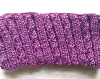 Knit Ear Warmer, Burgandy