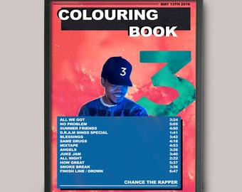 Chance The Rapper Colouring Book Custom Poster // Instant Download // Printable
