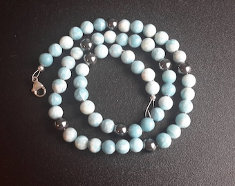 Larimar and Hematite Necklace