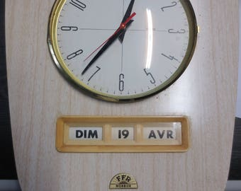 Old French Pendulum MORBIER 1970 kitchen clock