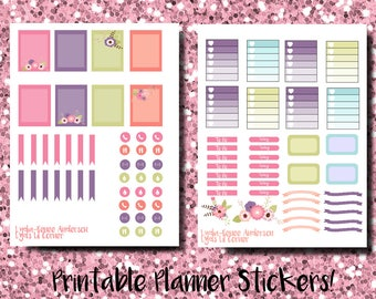 EC Printable Stickers: Spring Flowers Weekly Kit